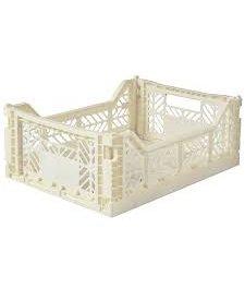 Folding Crates Midi Cream