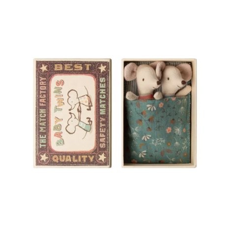 Baby Mice Twins in Box