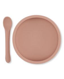 Bowl & Spoon Set Rose