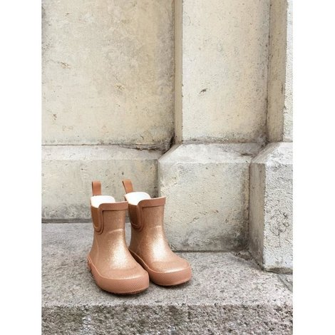 Welly Rubber Tan Boots