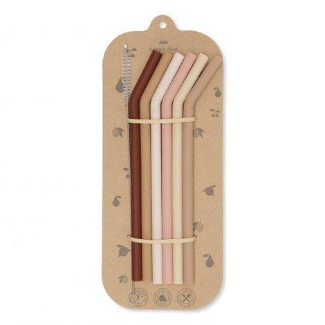 6-Pack Straws Pink Mix