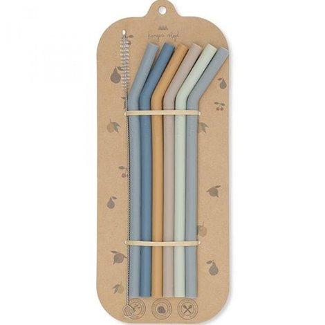 6-Pack Straws Blue Mix