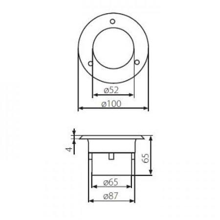 Kanlux LED Grondspot - 0,7W - 35Lm - 14SMD - 6200-6000K - IP66 - Rond