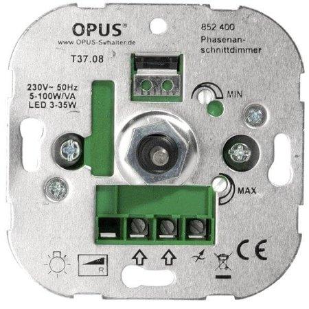 Opus LED Inbouwdimmer (fase-aansnijding) - 5-100W/VA