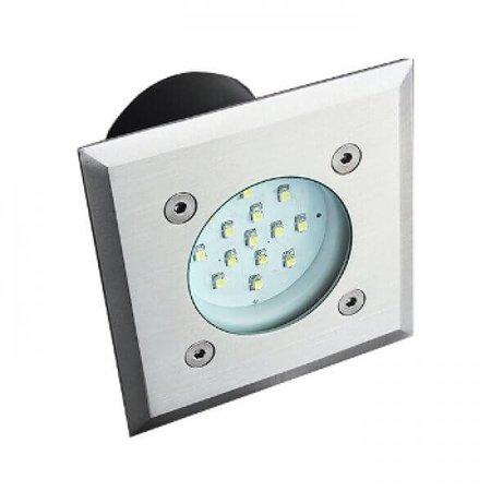 Kanlux LED Grondspot - 0,7W - 35Lm - 14SMD - 6200-6000K - IP66 - Vierkant