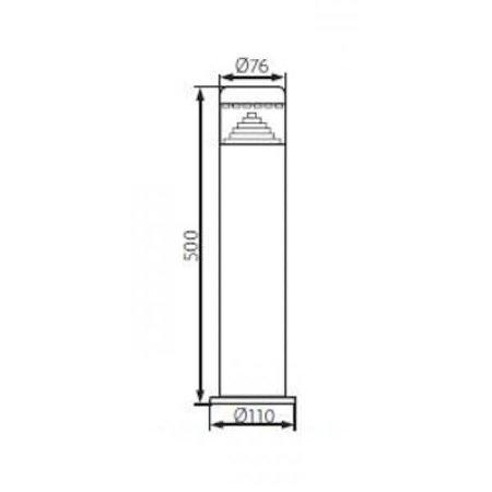 Kanlux LED Tuinsokkel lamp - 3W - 110Lm - 6500K - IP44