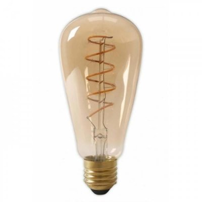 QUALEDY® LED E27-ST64-Filament lamp - 4W - 2700K - 700Lm - Curved - Amber