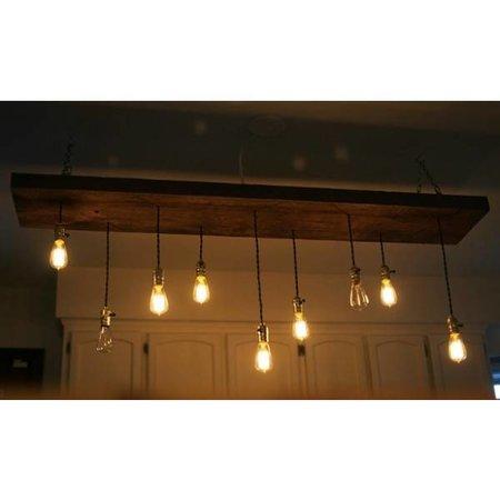QUALEDY® LED E27-ST64-Filament lamp - 4W - 2700K - 700Lm - Curved - Amber