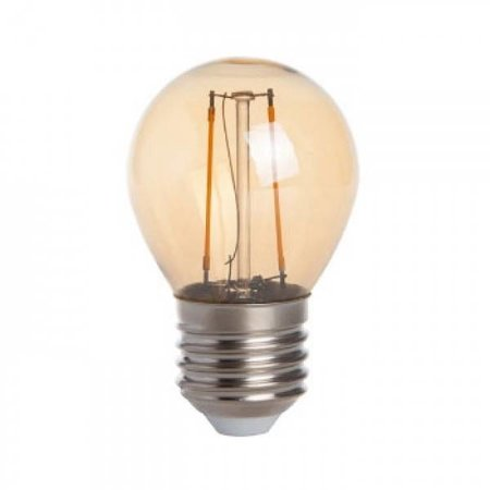 QUALEDY® LED E27-G45-Filament lamp - 2W - 2400K - 180Lm - Dimbaar - Goud