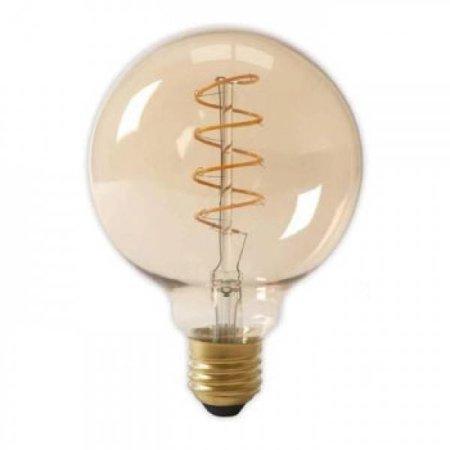 QUALEDY® LED E27-G125-Filament lamp - 4W - 2700K - 700Lm - Curved - Amber