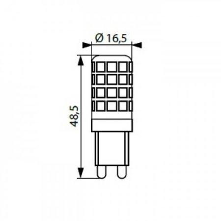 Kanlux LED G9 - 3,5W - 3000K - 400Lm - 360° (25W halogeen vervanger)