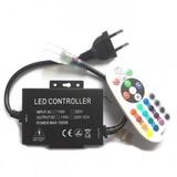 QUALEDY® LED Controller - Strip 230V - RGB - RF - 24Keys - 8A - 1200W