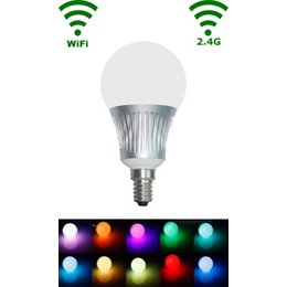 QUALEDY® LED E14 Bulb - 5W - RGB/Warm wit