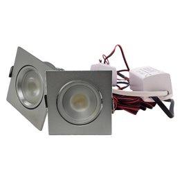 QUALEDY® LED Set van 2 Inbouwspots - 4W - Chroom - Vierkant