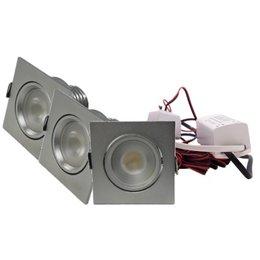 QUALEDY® LED Set 3-Inbouwspots - 4W - Chroom - Vierkant
