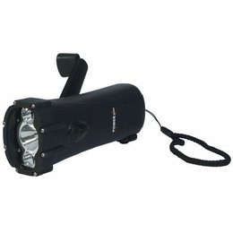 Powerplus Shark Waterproof Oplaadbare LED Dynamo Zaklamp / Lader