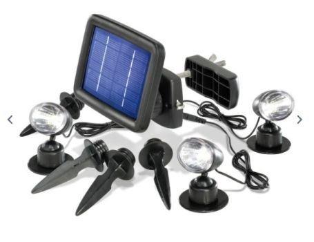 Solar Inbouwspots Tuin : Esotec tuinspots solar powered