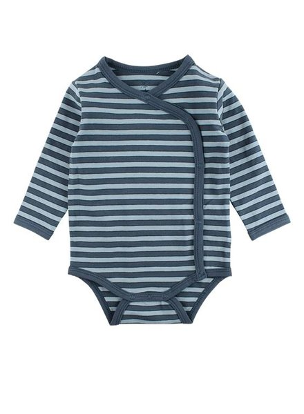 Small Rags Romper Stripes Orion Blue