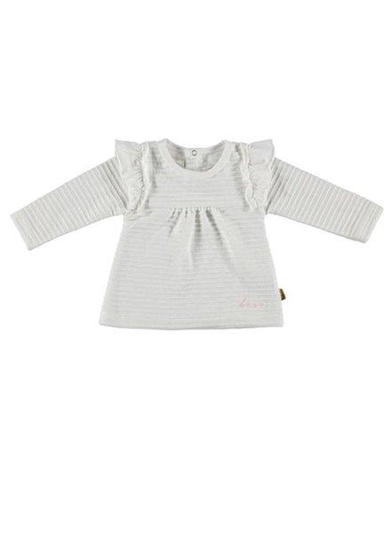 B*E*S*S Shirt Ruffles White