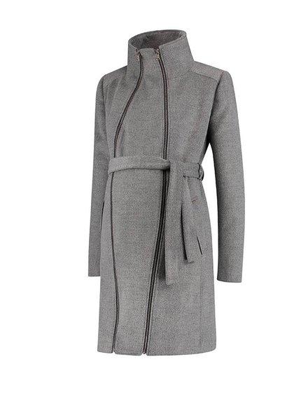 Love2Wait Coat Double Zipper Grey