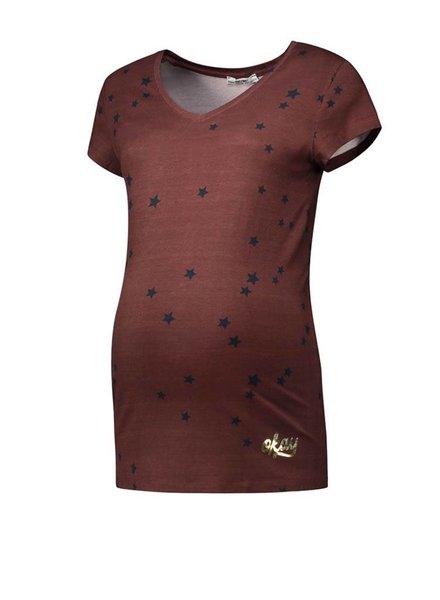 Love2Wait Shirt Stars Burgundy