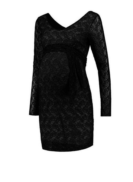 Love2Wait Dress Lace Stretch Black