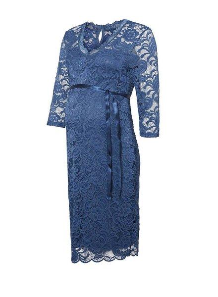 Mama Licious New Mivana 3/4 Jersey Dress Dark Denim