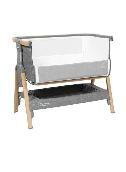 Topmark Bedside Crib Oak Silver