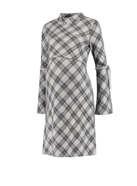 Love2Wait Dress Checkered Grey (Nursing)