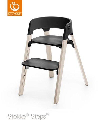 Stokke Steps Stoel White Wash / Black