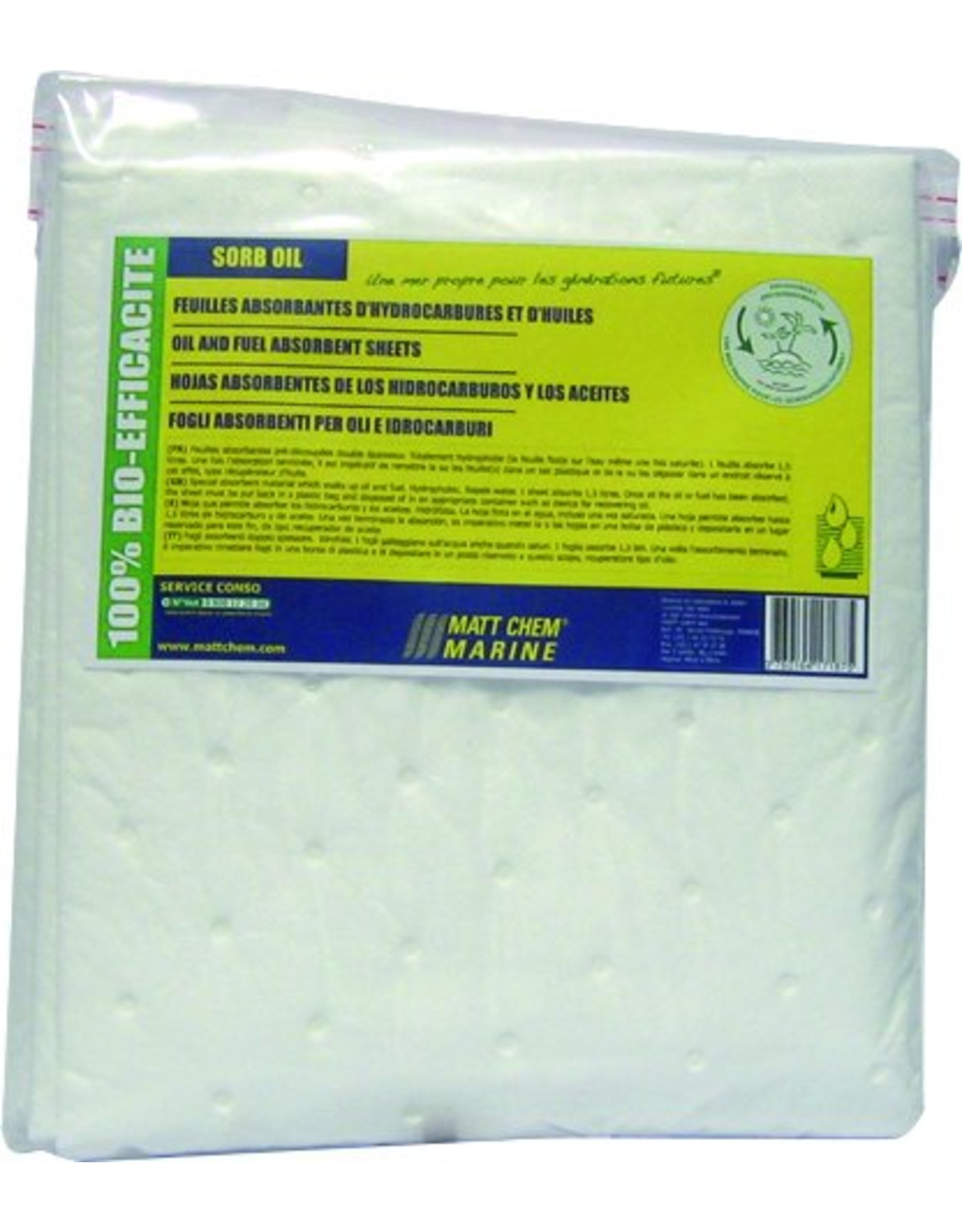 Matt Chem Marine SORB-OIL /3 sheets