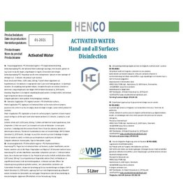 Henco Solutions Activated Water - Ontsmetting