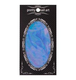 No Label Blue Pretty Nail Art Foil - holographic nails