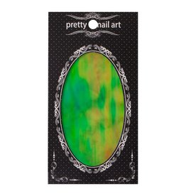 No Label Green Pretty Nail Art Foil - holographic nails