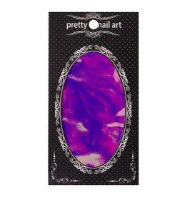 No Label Purple Pretty Nail Art Foil - holographic nails