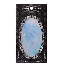No Label Pearl Pretty Nail Art Foil - holographic nails