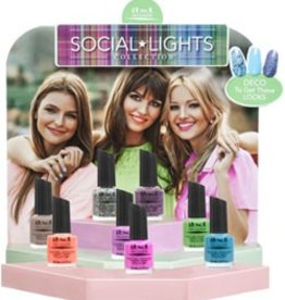Ibd Lacquer Social Lights 24pcs in 8 pcs display