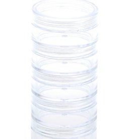 No Label Stackable Jars Clear 5 pcs