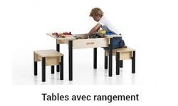 Table de jeux avec rangement
