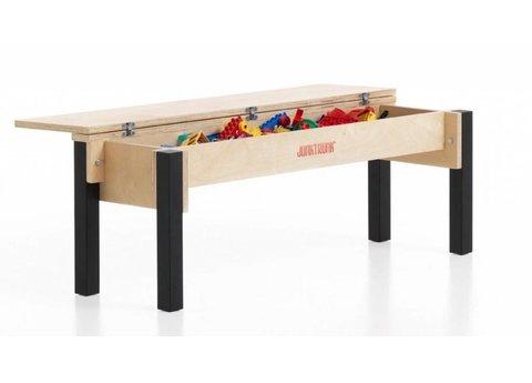 Banc coffre à jouet en bois