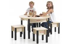 Table enfant avec rangement - ronde