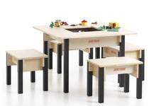 Table enfant avec rangement - carrée