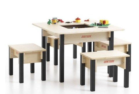 Table enfant avec rangement carrée