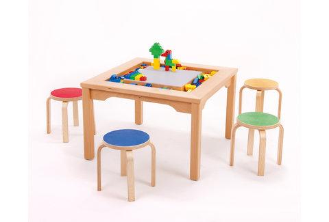 Table DUPLO avec chaises en bois