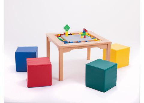 Table DUPLO avec sièges en mousse