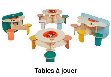Tables a jouer avec sieges fixes