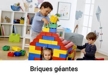 briques geantes souples de caoutchouc
