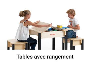 Table enfant en bois avec coffre