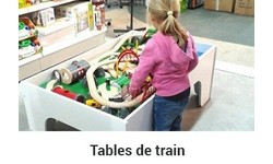 Table train en bois