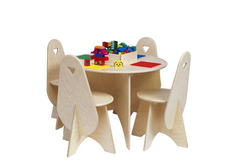 Table Lego avec 4 chaises